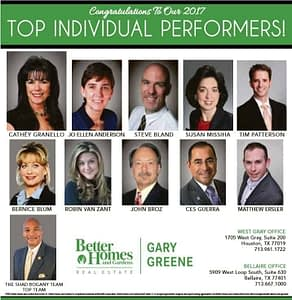 2017 BHGRE Gary Greene Top Performers